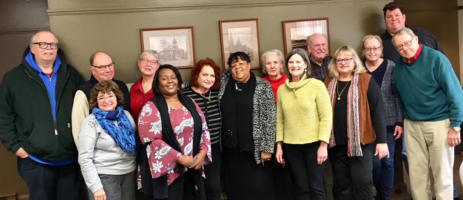 Pictured is the 2019 Worcester County Democratic Central Committee at their monthly meeting. Judy Butler, Auxiliary District 6, Laurie Brittingham, At Large, Teri Lojewski, Secretary, District 3, Vicky Wallace, Aux At Large, and Lannie Hickman, Treasurer, District 5 (front row)