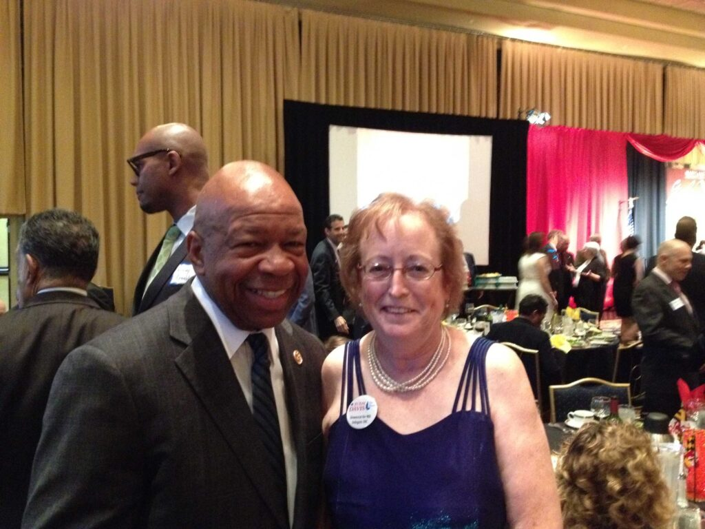 The late Congressman Elijah Cummings and Judy Davis